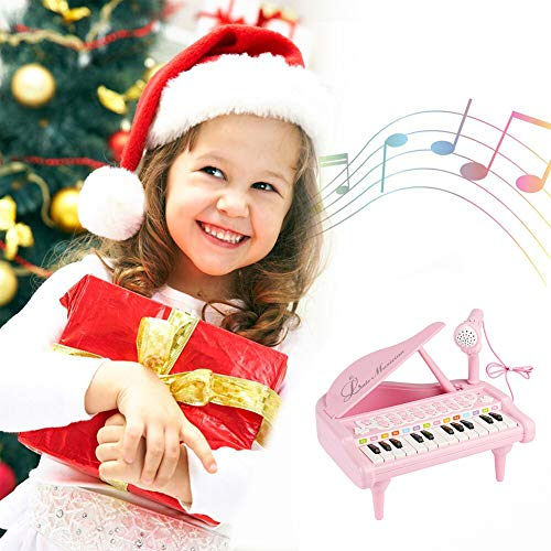 Conomus Piano Keyboard Toy for Kids,1 2 3 4 Year Old Girls First Birthday Gift , 24 Keys Multifunctional Musical Electronic Toy Piano for Toddlers by Conomus (Image #5)
