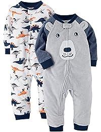 Baby Boys' 2-Pack Fleece Footless Pajamas