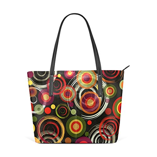 Bags BENNIGIRY Pattern Colorful Shoulder Tote Women Circles Handle Handbag Large Top xqRxY4