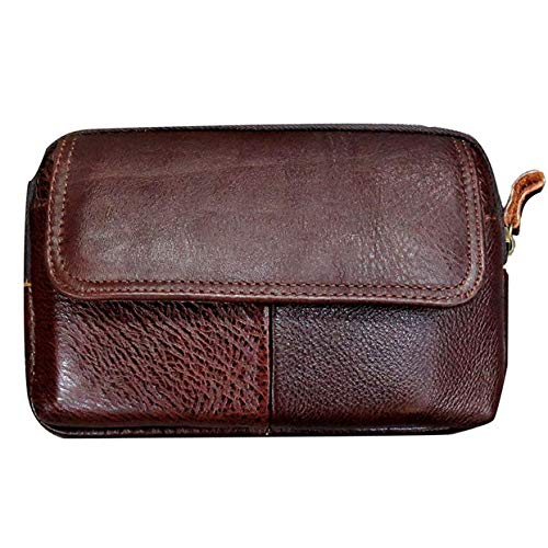 Men's Belt Pouch Holster Waist Bag Fanny Packs Leather Purse Wallet Pocket Casual Retro Fashion Cell Phone Case Belt Clip Travel Sport Messager Bag for 6