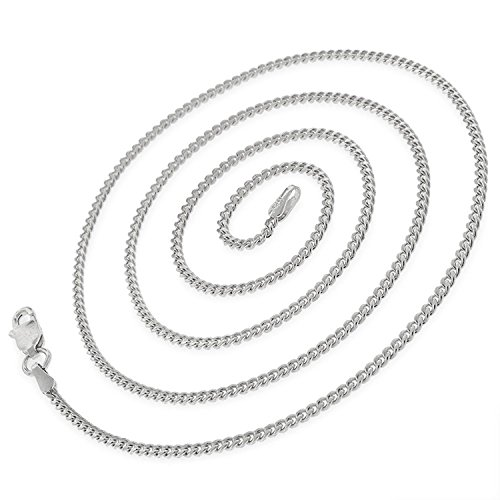 14k White Gold 2mm Solid Miami Cuban Curb Link Thick Necklace Chain 16'' - 30'' (24) by In Style Designz (Image #1)