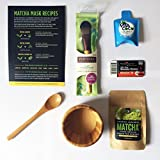 Acne Face Mask Diy Jade Leaf - Organic Japanese Matcha Green Tea Face Mask DIY Starter Kit - Antioxidants - Essential Nutrients - Gentle Detox