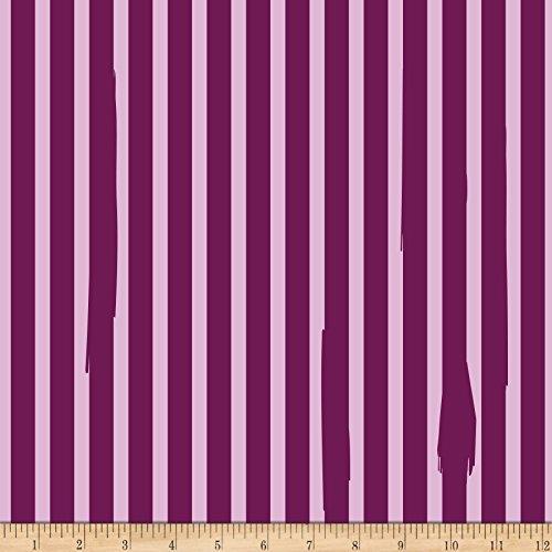 (Riley Blake Designs Kiss Me Kate Nail Polish Stripe Fabric, Purple, Fabric By The Yard)