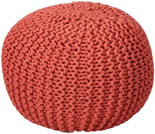 Poona Handcrafted Modern Cotton Pouf