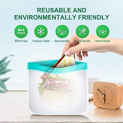 bedee 8 PCS Bolsas Reutilizables Congelar para Almacenamiento de Alimentos, Alimentos Bolsa de Conservación Bolsas Reutilizables Compra Bolsas de ...