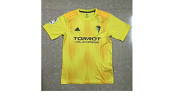 BROOK Cadiz Club Soccer Jersey 2019-2020 (Yellow, L): Amazon.es ...