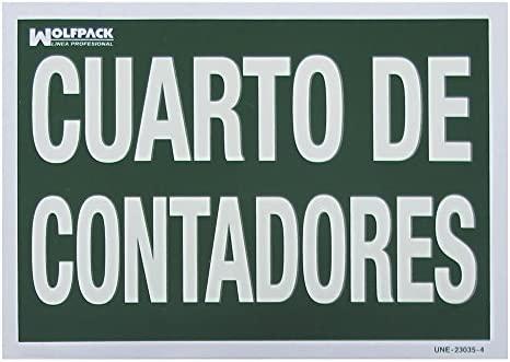 Wolfpack 15051300 Cartel Cuarto de Contadores, 30 x 21 cm ...