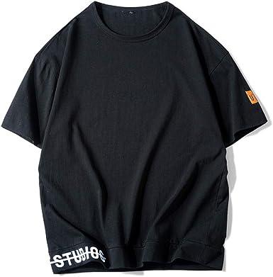 Sylar T-Shirt Camisetas de algodón para Hombre Camisetas Basicas Hombre Manga Corta Color sólido Playera Cuello Redondo Tops de Verano tee: Amazon.es: Ropa y accesorios