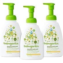 Babyganics Baby Shampoo + Body Wash, Chamomile Verbena, 16oz Pump Bottle (Pack...
