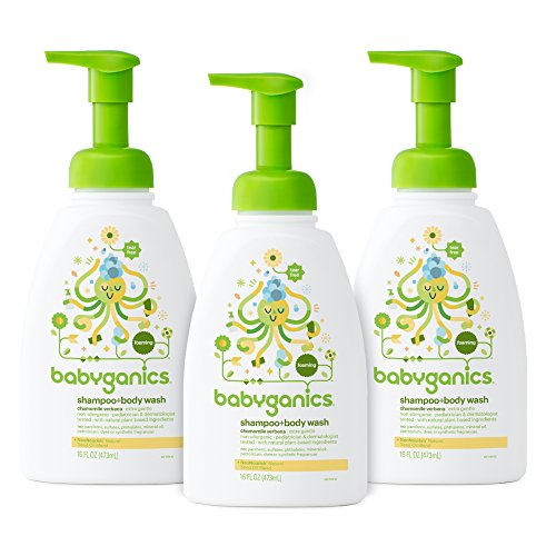 Verbena Natural (Babyganics Baby Shampoo + Body Wash, Chamomile Verbena, 16oz Pump Bottle (Pack of 3))