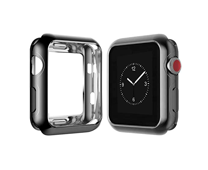 online store 585fb ae219 Case for Apple Watch 44mm 40mm 42mm 38mm Series 4 Soft Flexible Case Ultra  Thin Protective Bumper for iWatch Series 3/2/1