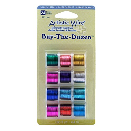 Plated Silver Dozen (Artistic Wire 24-Gauge Silver Plated Buy-The-Dozen Wire)