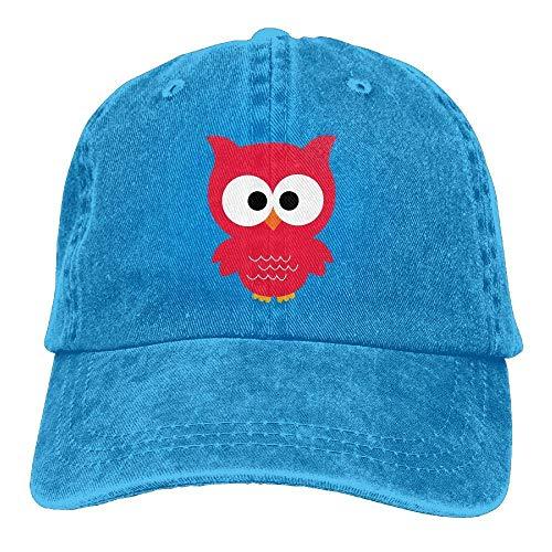 Hat Red Owl Denim Skull Cap Cowboy Cowgirl Sport Hats for Men Women