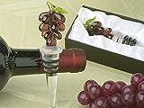 Murano art deco collection grapes wine stopper.
