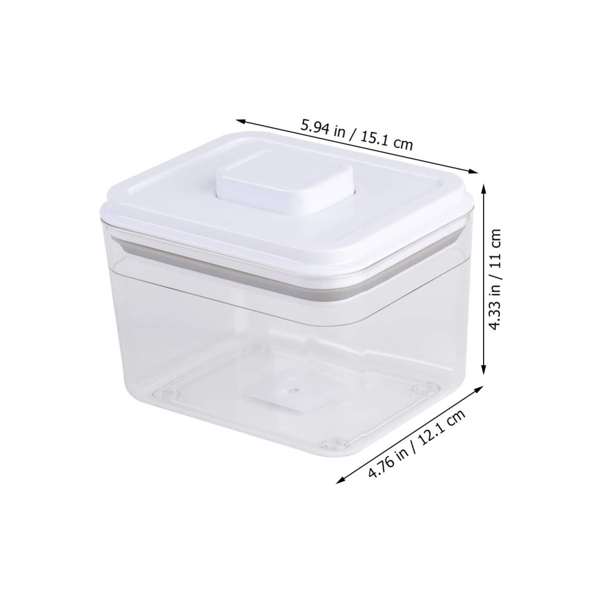 Hemoton Babymilchpulver Formelbeh/älter Babypuderbox Babynahrung Reiseaufbewahrungsbeh/älter Lebensmittelaufbewahrungsbox 1000 Ml Wei/ß