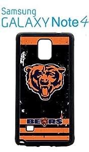 Chicago Bears Samsung Galaxy Note 4 Case Hard Silicone Case by icecream design