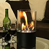 Sunnydaze Fiammata Ventless Tabletop Bio Ethanol Fireplace, Black