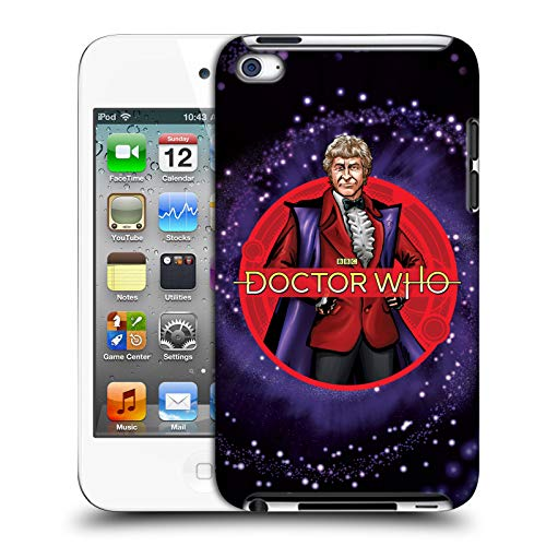 Official Doctor Who Jon Pertwee Classic Doctors Hard Back Case Compatible for Apple iPod Touch 4G 4th Gen (Dr Who Ipod 4)