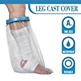 Wilsco Adult Waterproof Leg Cast Cover for Shower ~ Keep Bandages & Casts Dry in The Shower ~ Submersible + Reusable ~ Keep Sand Out ~ Keep New Tattoos Covered
