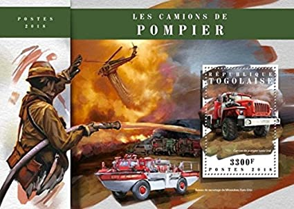 Amazon com: Togo - 2018 Fire Engines on Stamps - Stamp