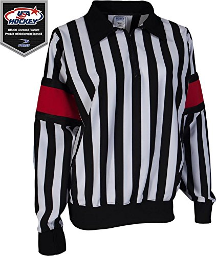 Force Pro Referee Jersey w/ Red Armbands [WOMENS] (Pro Referee Hockey Jersey)