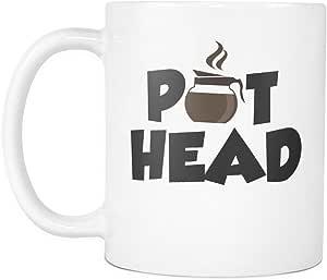 Coffee Pot Head Coffee Lover Mug Coffee Mug Funny Coffee Gift Pot Head Mug