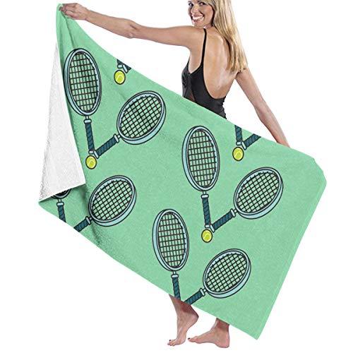 (CIGOCI Premium Bath Towels Hand Towels for Home, Hotel, Spa, Beach Gym - Tennis Ball and Racket Towels, Soft Absorbent Shower & Bath Towel Extra Large Bathroom Towel - 32x51 inch)