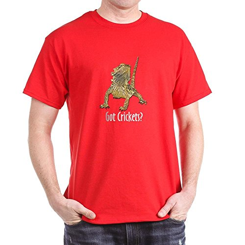 Got Crickets (CafePress - Bearded Dragon Got Crickets Navy Blue T-Shirt - 100% Cotton T-Shirt)