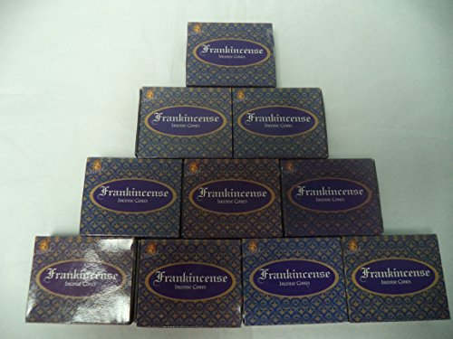 - Kamini Incense Cones: Frankincense - 10 Packs of 10 = 100 Cones