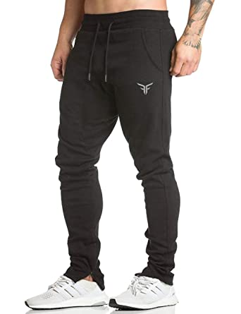 53acc49a5ebde FLYFIREFLY Men's Gym Fashion Sport Pants Fitness Workout Running Trousers  Black
