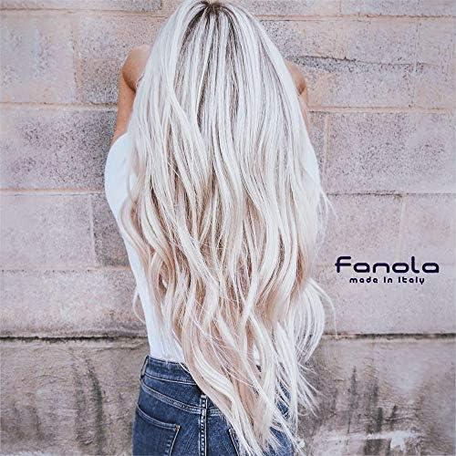 Fanola Mascarilla NO YELLOW Antiamarillo 350mL - Especial cabellos grises, aclarados, decolorados, mechas, rubio claro - Pigmento morado neutraliza ...