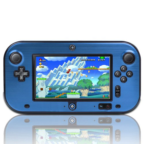 TNP Wii U Gamepad Case (Blue) - Plastic + Aluminium Full Body Protective Snap-on Hard Shell Skin Case Cover for Nintendo Wii U Gamepad Remote Controller