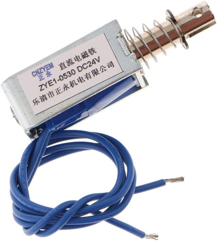nouler Juler Electroaimant Miniature DC Push-Pull DC 24 V 10 mm