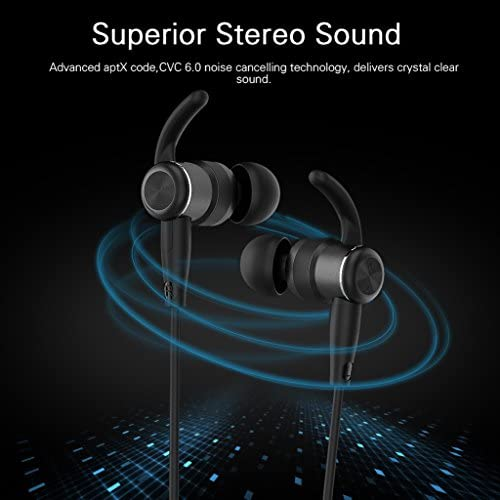 Earphones with Microphone, in-Ear Earbuds V4.1 Magnetic Headphones Noise Cancelling Earphone Sport Headset 6-8Hours Play Time, Secure Fit Design
