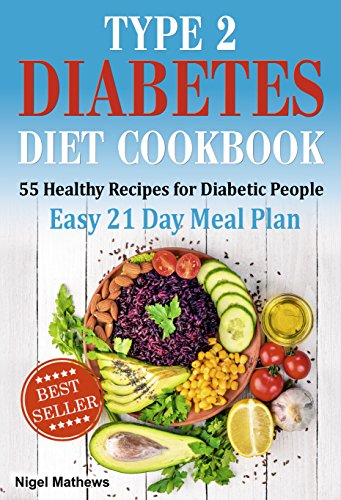 Type 2 Diabetes Diet Cookbook & Meal Plan: 55 Healthy Recipes for Diabetic People with an Easy 21 Day Meal Plan (type diabetes 2, diabetes type 2 diet, diabetic meal plans, meals for diabetics) by Nigel Methews