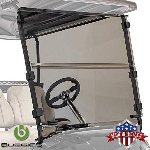 Buggies Unlimited Yamaha G29 Drive 2007-2016 Folding Golf Cart Tinted Windshield with Quick Disconnect Mounting System
