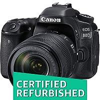 Canon EOS 80D Digital SLR Kit with EF-S 18-135mm f/3.5-5.6 Image Stabilization USM Lens (Black) (Certified Refurbished)