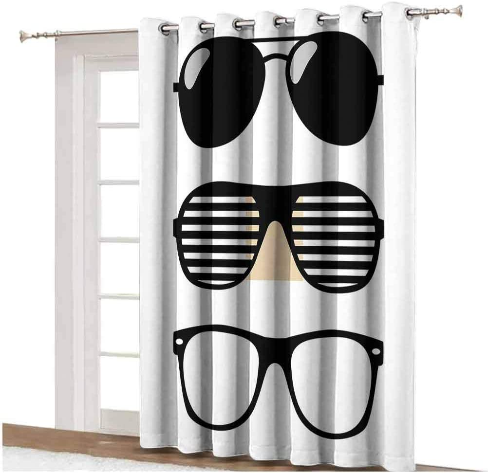 Single Panel 63x72 inch,for Sliding Door Wave Sliding Door Curtain Thunderstorm and Lightning on Beach Cloudy Rainy Sky Powerful Tide Cold Dramatic Decorative Thermal Backing Sliding Glass Door Drape