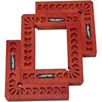 Positioning Squares, Woodworking Tool, Clamping 90 Degree Angles for Picture Frames, Boxes, Cabinets or Drawers (Set of 4) 4-Inch by TOFL (4, 4 Inch)