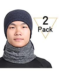 Qinglonglin Neck Gaiter Warm Neck Cover for Winter Double-Layer Fleece Ski Face Mask