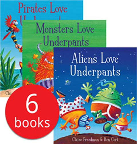 Dinosaurs Love Underpants - Aliens Love Underpants Collection Set 6 Books