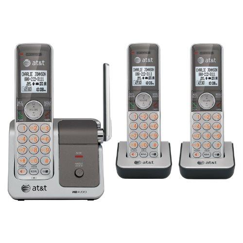 AT&T CL81301 DECT 6.0 Cordless Phone, Silver/Grey, 3 (Cordless Phones Intercom)