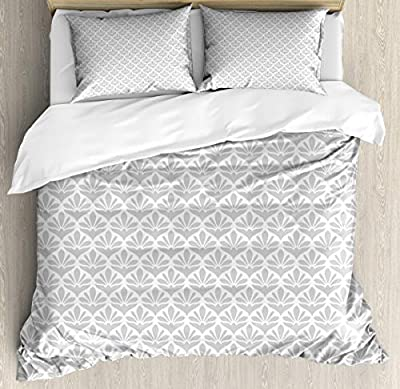 Hedda Clare Duvet Cover SetFlowers as Diamond Shapes Duvet Cover SetCustom Design 3 PC Duvet Cover Set