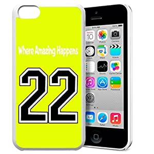 GXFC Case Unique Design Basketball Sportsman Uniform Where Amazing Happens 22 Pattern HD Durable Hard Plastic Case Cover for iphone 5c