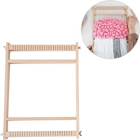 Ficony Kit de Telar de Madera, máquina de hilar Bricolaje de Lana ...