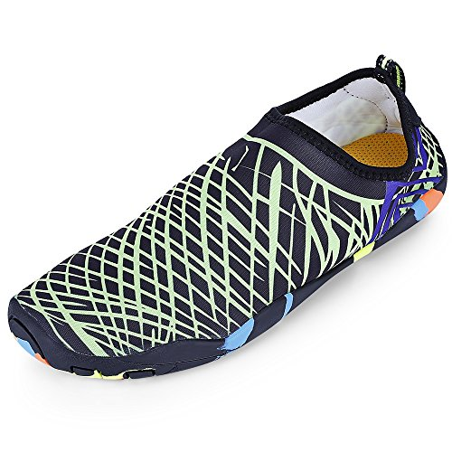detailed look 687ed 54d8f KCatsy Outdoor Round Toe Quick-Dry Breathable Flat Heel Slip-on Men Water  Shoes