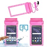 Acm Waterproof Bag Case for Honor 8 Smart Mobile (Rain,Dust,Snow & Water Resistant) Pink