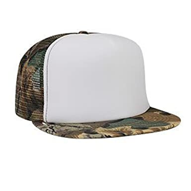 Otto Caps Camouflage Cotton Twill Flat Visor Polyester Foam Front Two Tone  Color Five Panel High Crown Golf Style Mesh Back Cap at Amazon Men s  Clothing ... bc4ba8f4c5f
