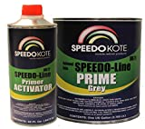 SpeedoKote SMR-210/211 - Automotive High Build 2K Urethane Primer Gray Gallon Kit, Fast Dry, Easy Sanding, Activator is included