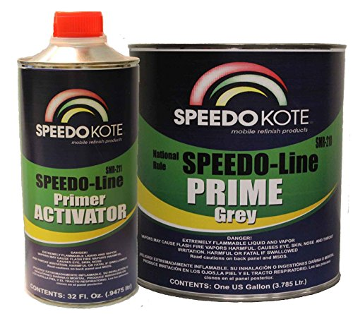 - Speedokote SMR-210/211 - Automotive High Build 2K Urethane Primer Gray Gallon Kit, Fast Dry, Easy Sanding, Activator is included